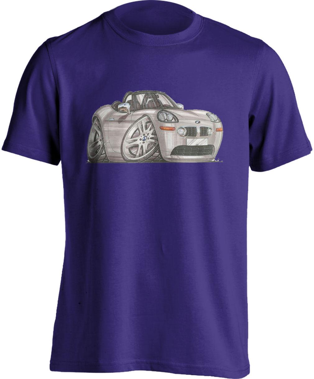 Koolart BMW Z8 Silver-1072-Child's Motor Vehicle Kartoon T Shirt