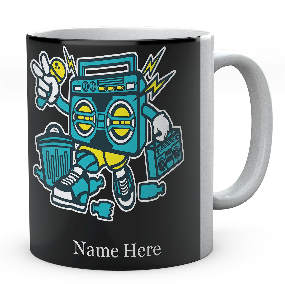 Boombox Cartoon Funny Personalised Mug