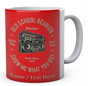 Boombox Old School Reunion Ceramic Mug