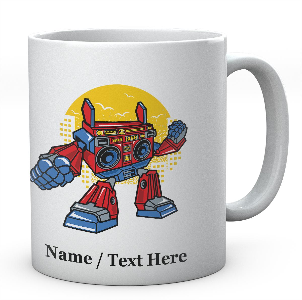 Boombox Robot Funny Personalised Ceramic Mug
