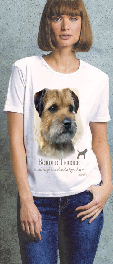 Border Terrier Ladies T Shirt