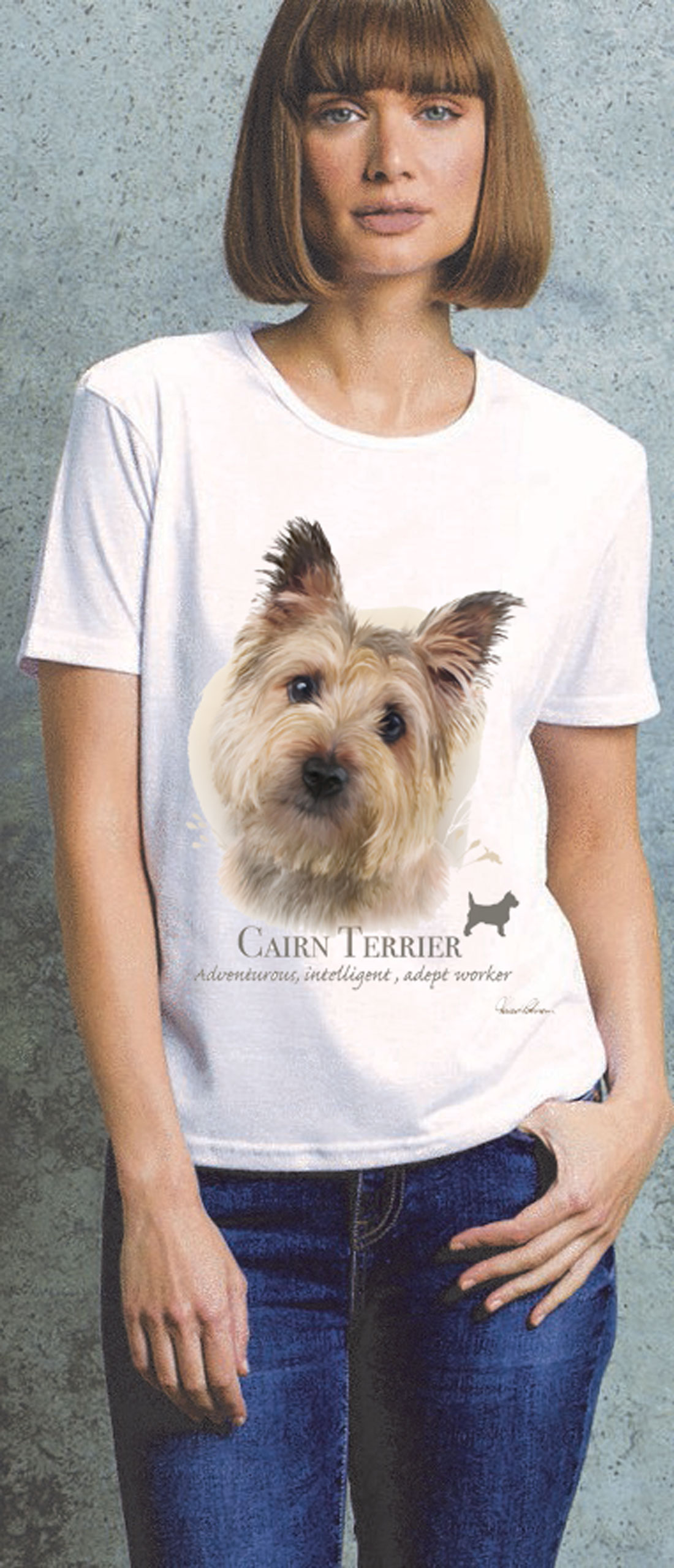 Cairn Terrier Ladies T Shirt