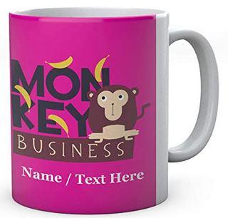 Ceramic Monkey Business Mug