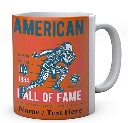 Ceramic Mug Personalised - American Football Hall Of Fame