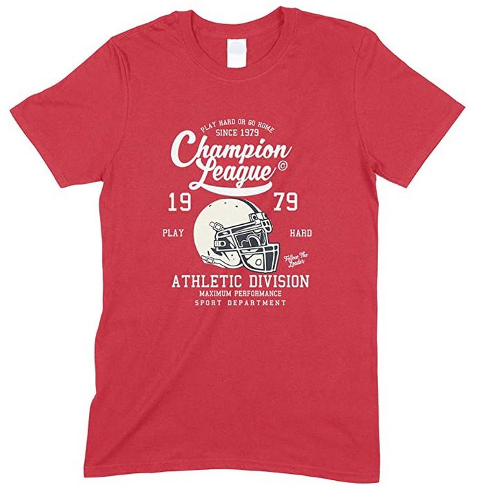 Champion League Athletic Division Play Hard Or Go Home -Child's T Shirt Boy-Girl