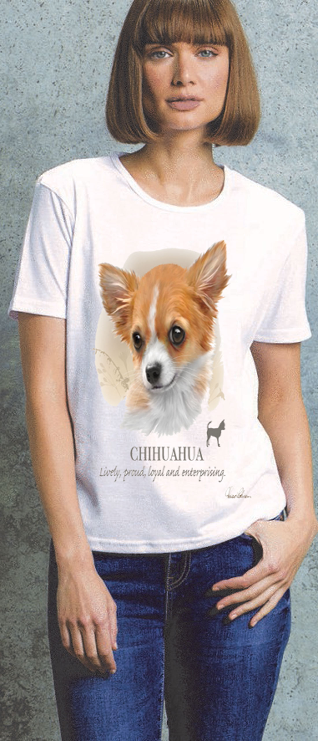 Chihuahua Ladies T Shirt