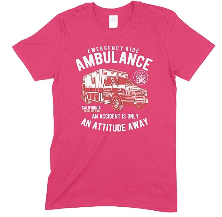 Child's- Emergency Ride Ambulance an Accident is Only an Attitude Away Unisex T-Shirt Boy-Girl
