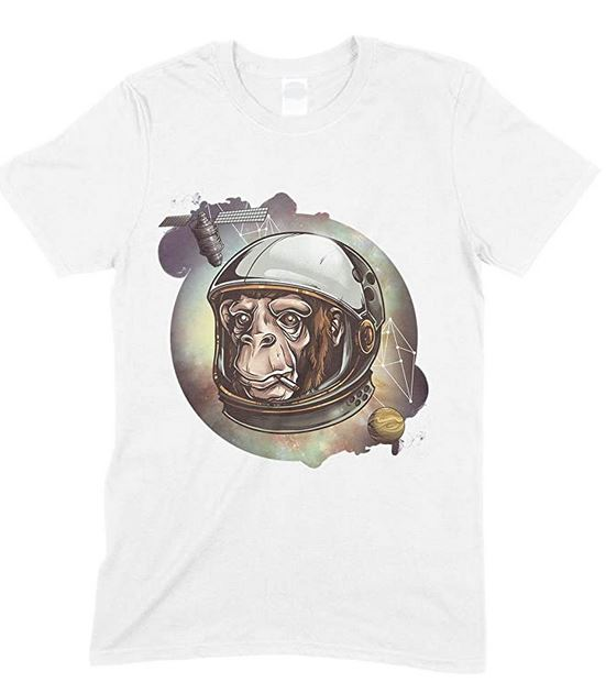 Children's Space Cosmic Chimp Funny Unisex T Shirt Boy/Girl