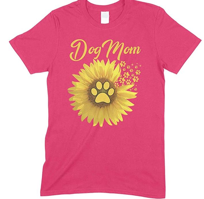 Children's-Sunflower Dog Mum- T Shirt Boy-Girl