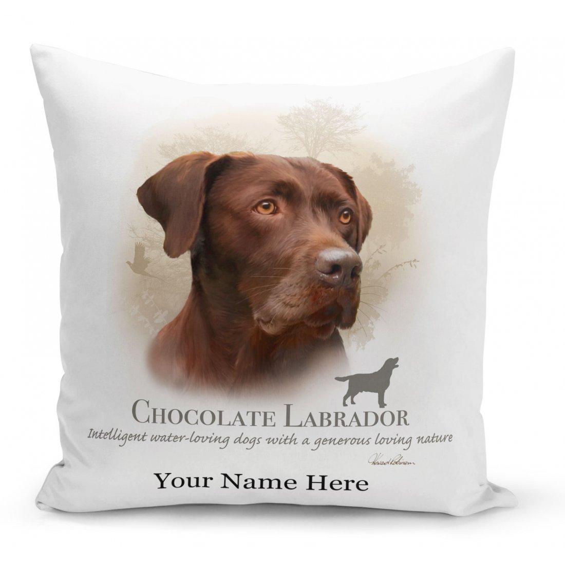 Chocolate Labrador Dog Cushion