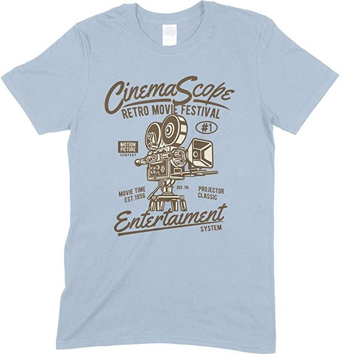 Cinema Scope Retro Movie Festival Entertainment System Adults T Shirt
