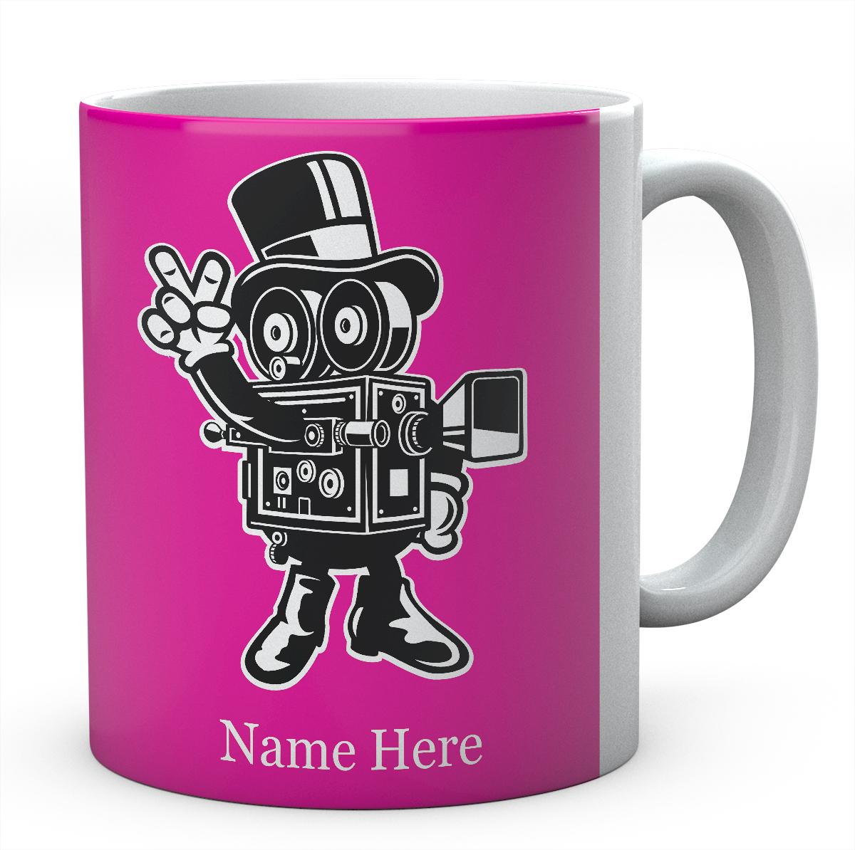 Classic Cameraman Cartoon Personalised Funny Mug