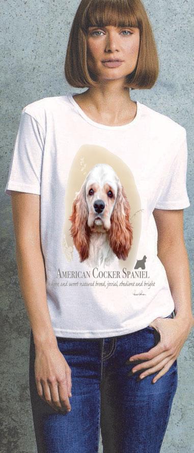 Cocker Spaniel Ladies T Shirt