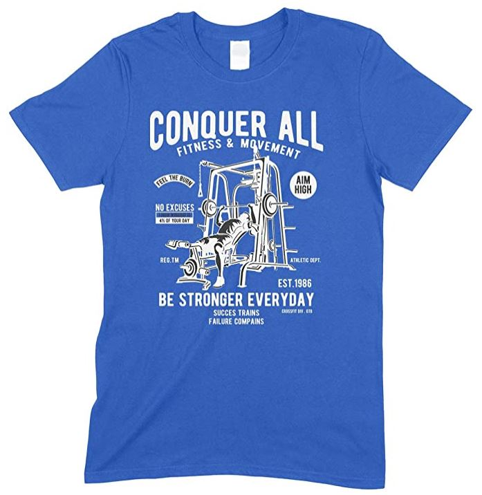 Conquer All Fitness & Movement - Be Stronger Everyday-Men's T Shirt