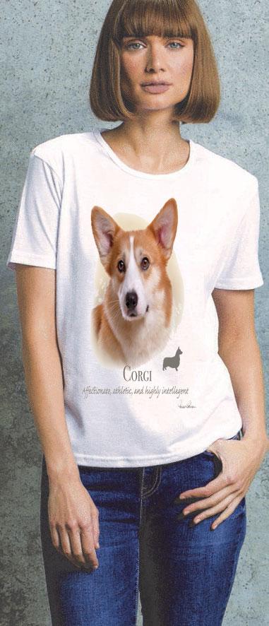 Corgi Ladies T Shirt
