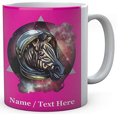 Cosmic Space Zebra - Personalised Ceramic Mug