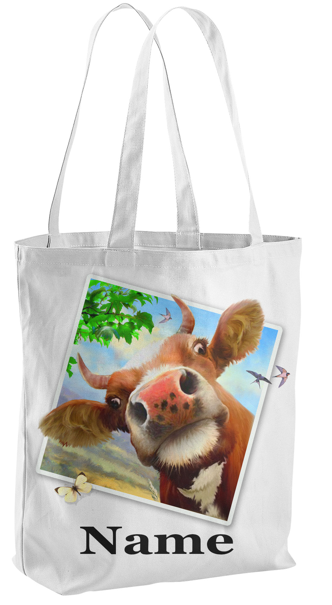 Cow Tote Shopping Bag