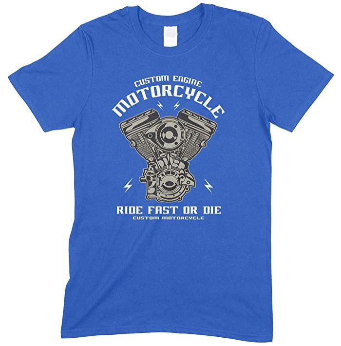 Custom Engine Motorcycle Ride Fast Or Die - Men's Unisex T Shirt