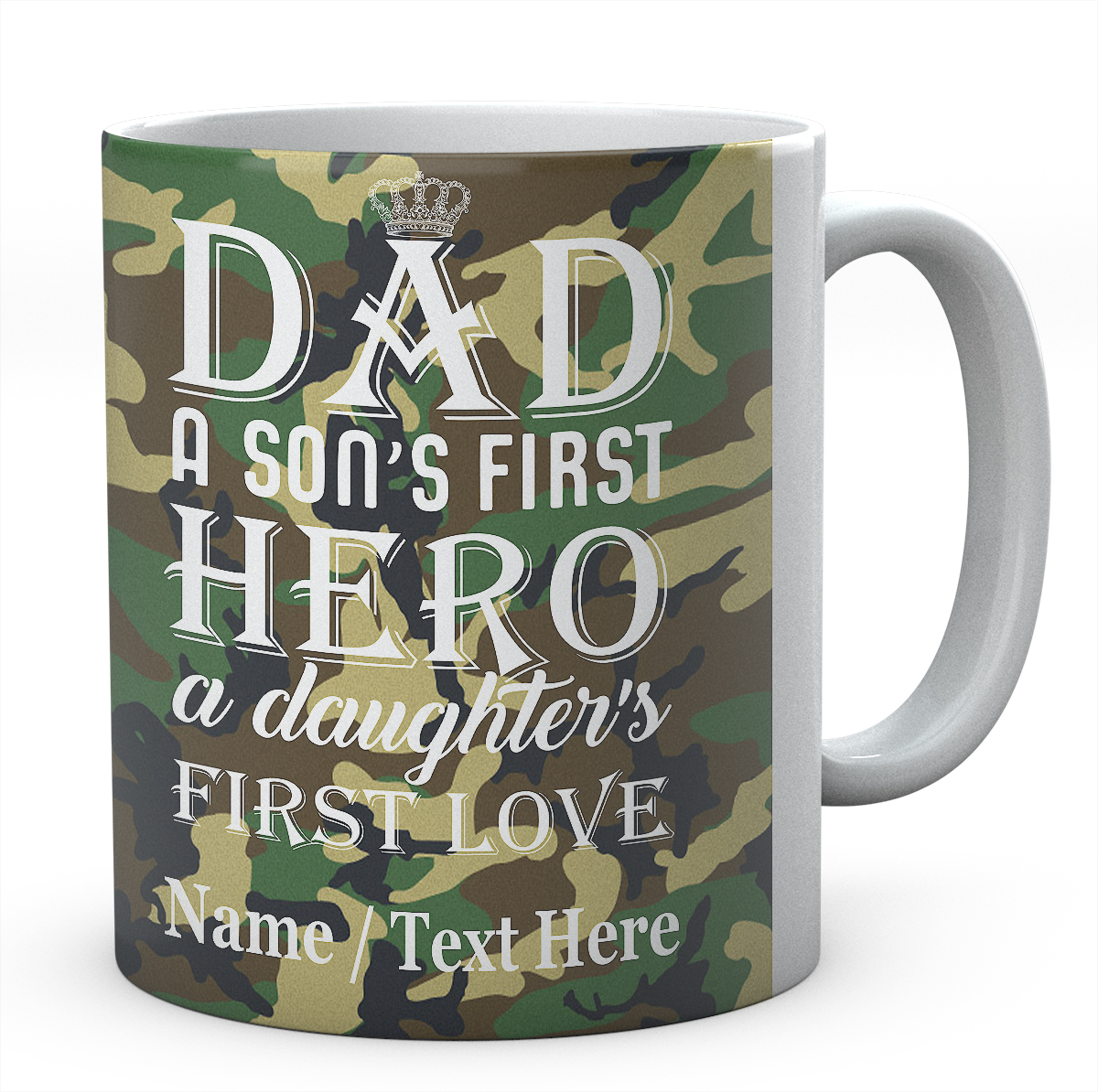 Dad A Son's First Hero A Daughter's First Love-Personalised Mug