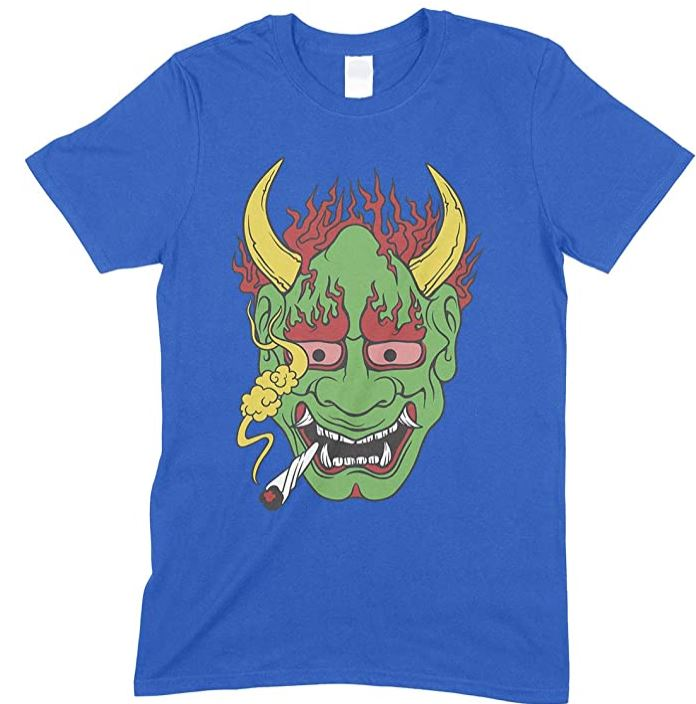 Weed Demon Smoking  - Men's unisex T Shirt