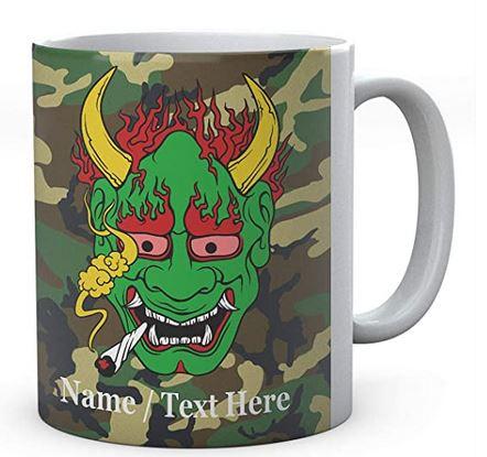 Demon Smoking Weed - Personalised Name Mug