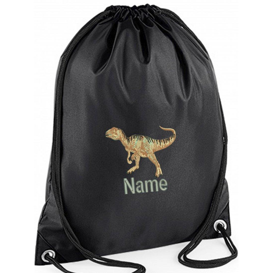 Embroidered Dinosaur Gym Bag