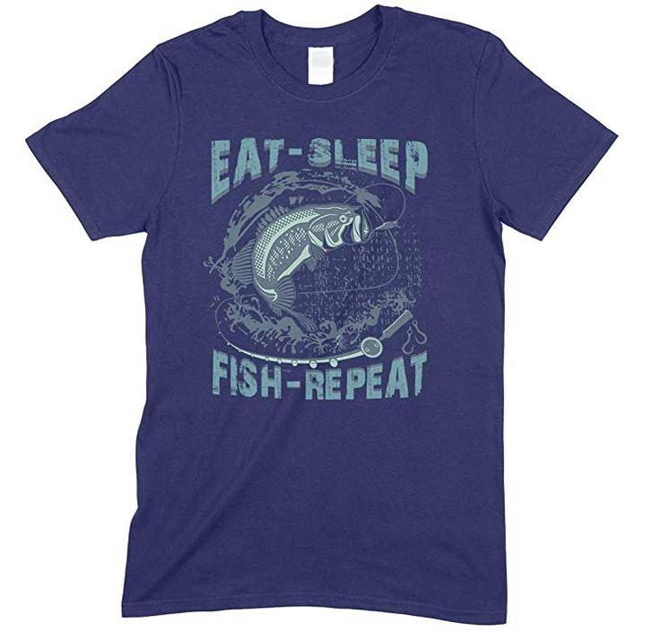 Eat Sleep Fish Repeat-Men's Unisex Fishing T Shirt