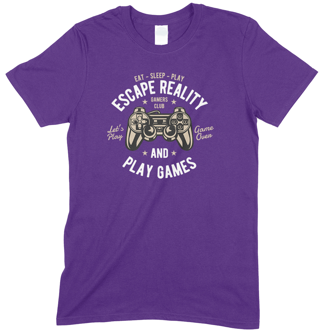 Eat Sleep Play Escape Reality and Play Games - UnisexT-Shirts-Girls-Boys