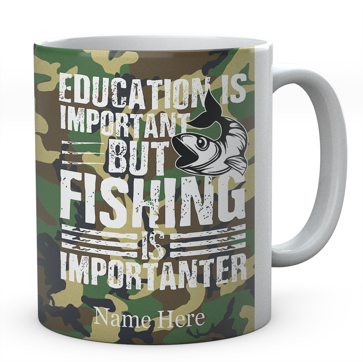Education Is Important But Fishing Is Importanter-Personalised Mug