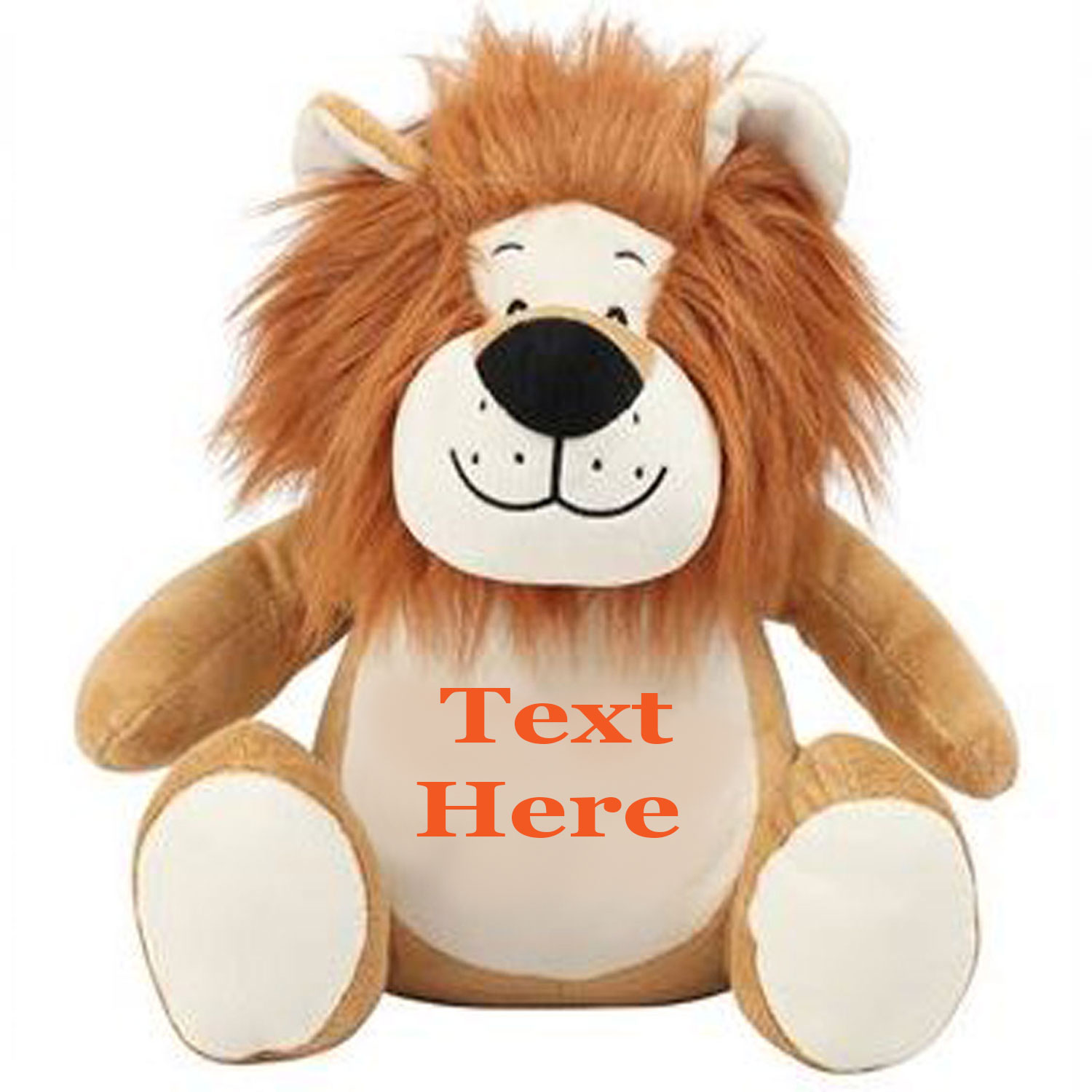 Embroidered Lion Teddy Bear With Personalised Name