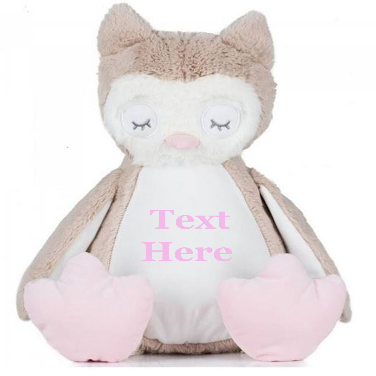 Embroidered Owl Teddy Bear With Personalised Name
