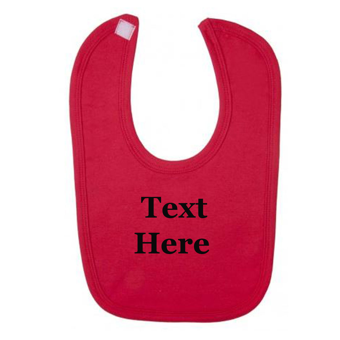 Embroidered Red Baby Bib