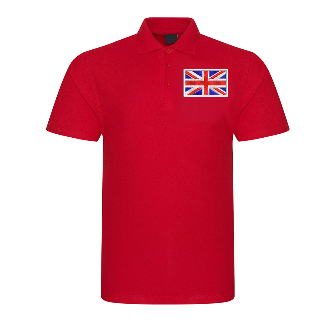 Embroidered Union Jack onto Unisex Polo Shirt