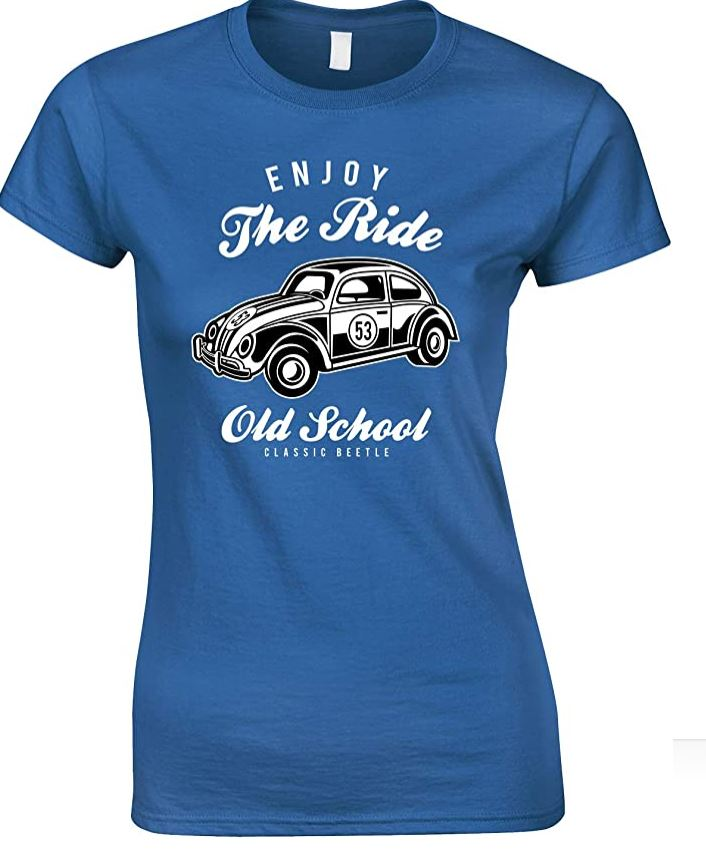 Enjoy The Ride- Old School Classic Beetle Ladies Fun T Shirt