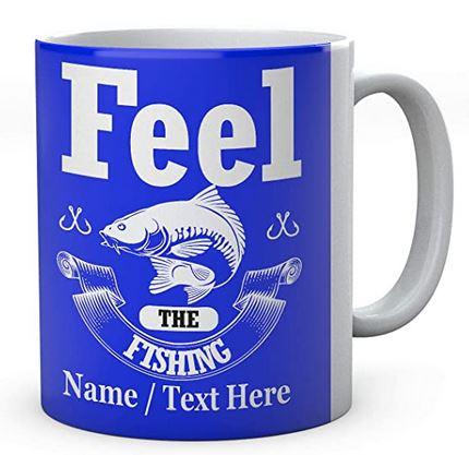 Feel The Fishing - Personalised Fishing Mug