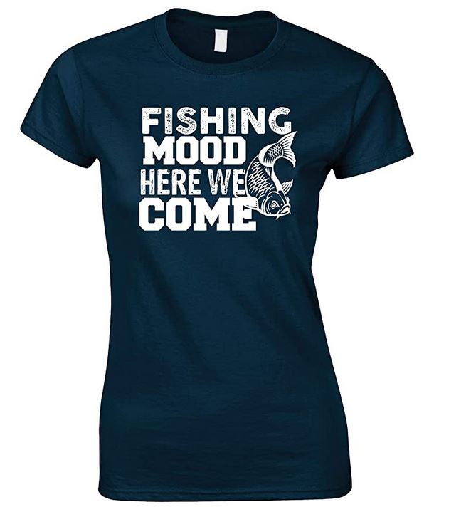 Fishing Mood Here We Come-Ladies Style T Shirt