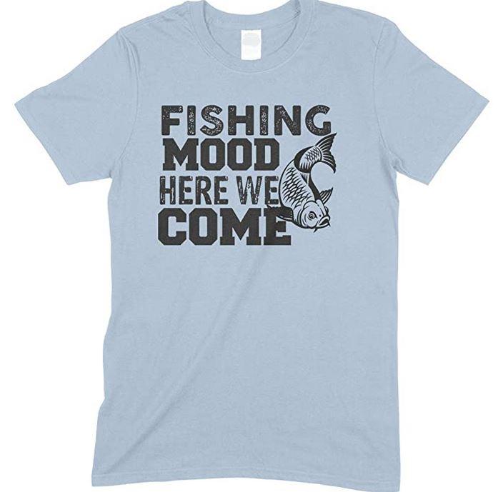 Fishing Mood Here We Come-Child's Unisex T Shirt-Boy -Girl