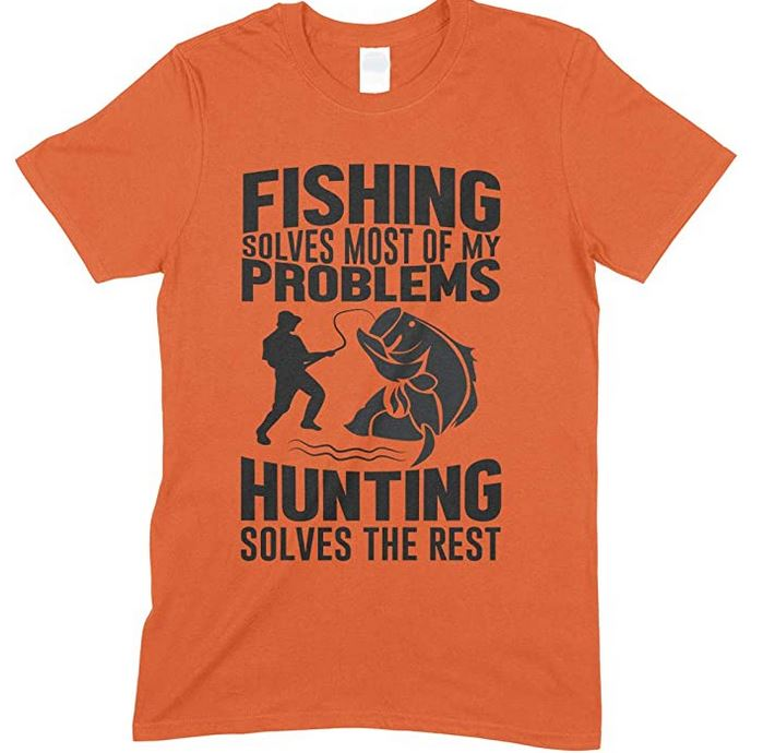 Fishing Solves Most of My Problems-Adults Unisex T Shirt