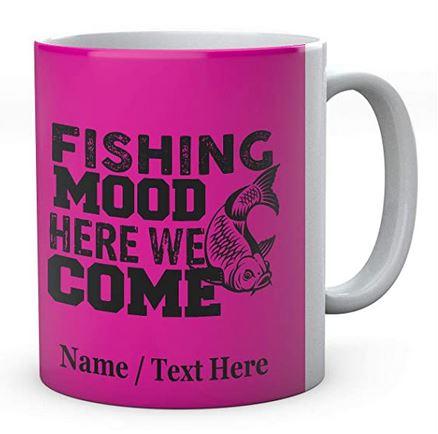 Fishing Mood Here We Come-Personalised Ceramic Mug