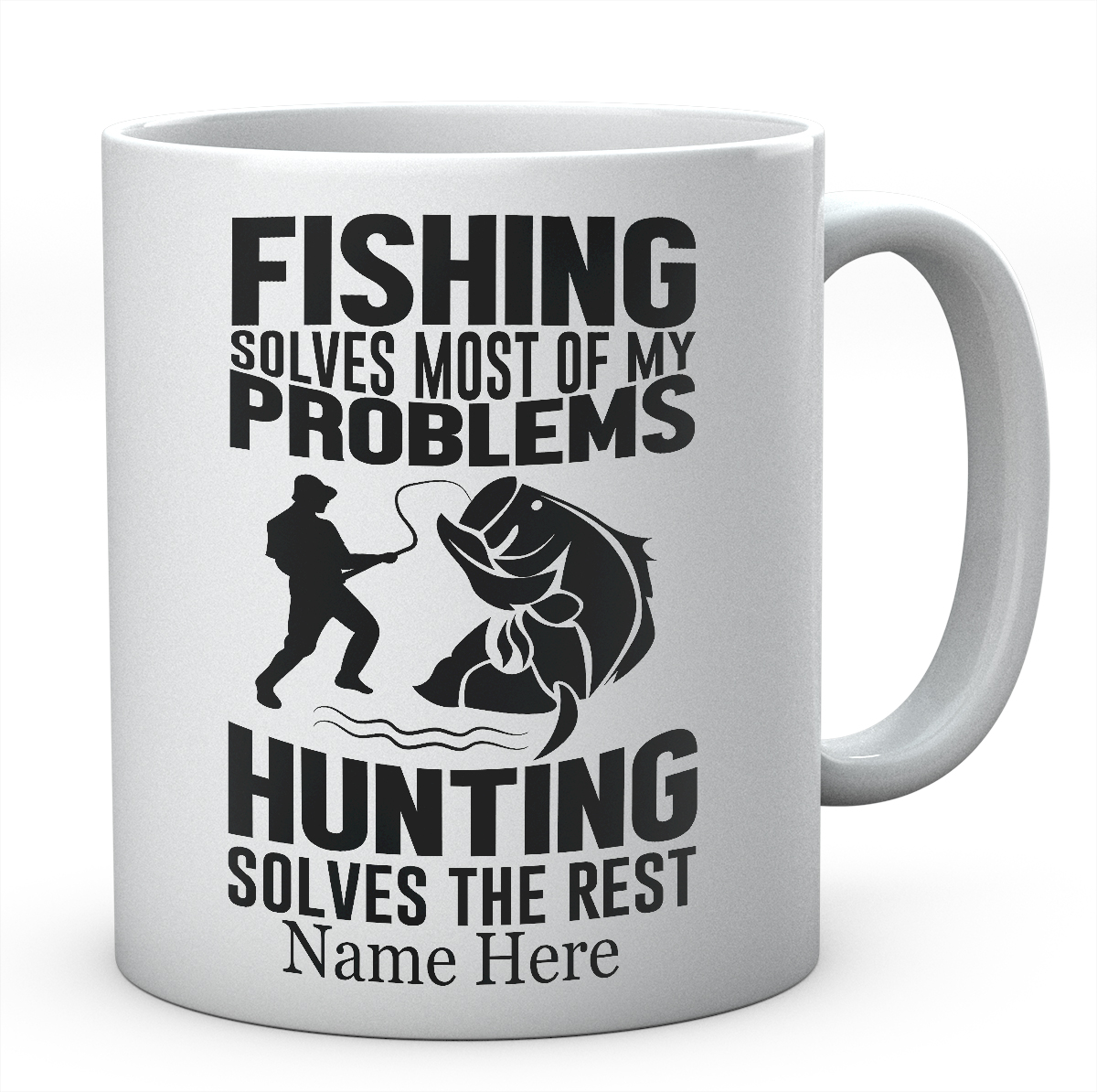 Fishing Solves Most Of My Problems-Personalised Fishing Mug