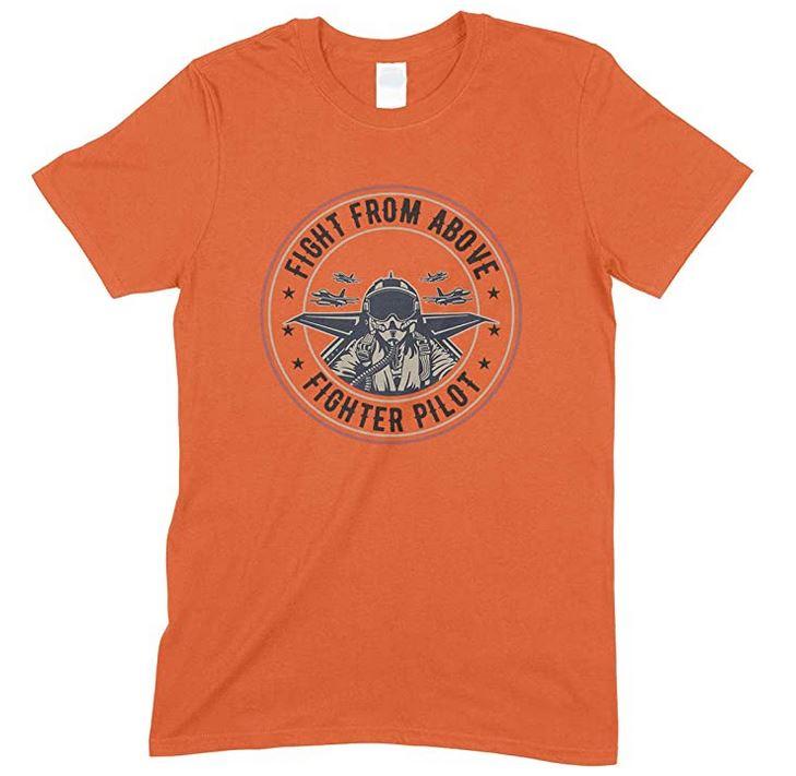 Fight from Above -Fighter Pilot  Men's Unisex T Shirt