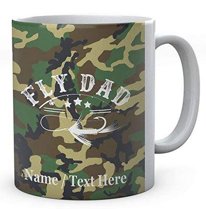 Fly Fishing Dad  - Fishermen's Personalised Ceramic Mug