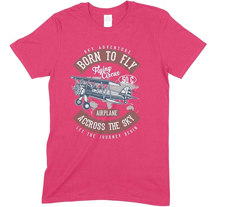 Sky Adventure Born to Fly Accross The Sky Let The Journey Begin - Children's T Shirt Boy-Girl