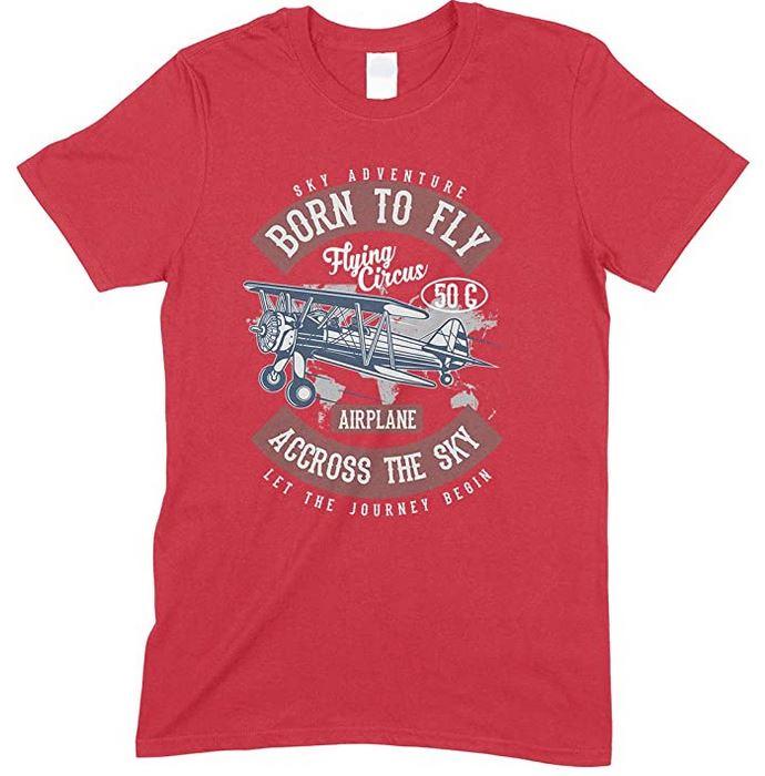 Sky Adventure Born to Fly Accross The Sky- Men's T Shirt
