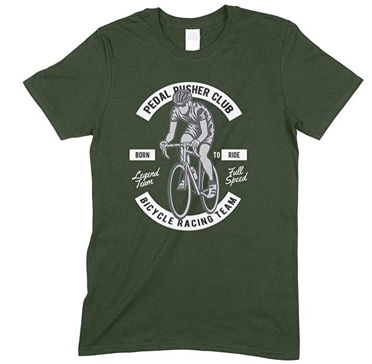Pedal Pusher Club Bicycle Racing Team -Bike Born to Ride Men's T Shirt