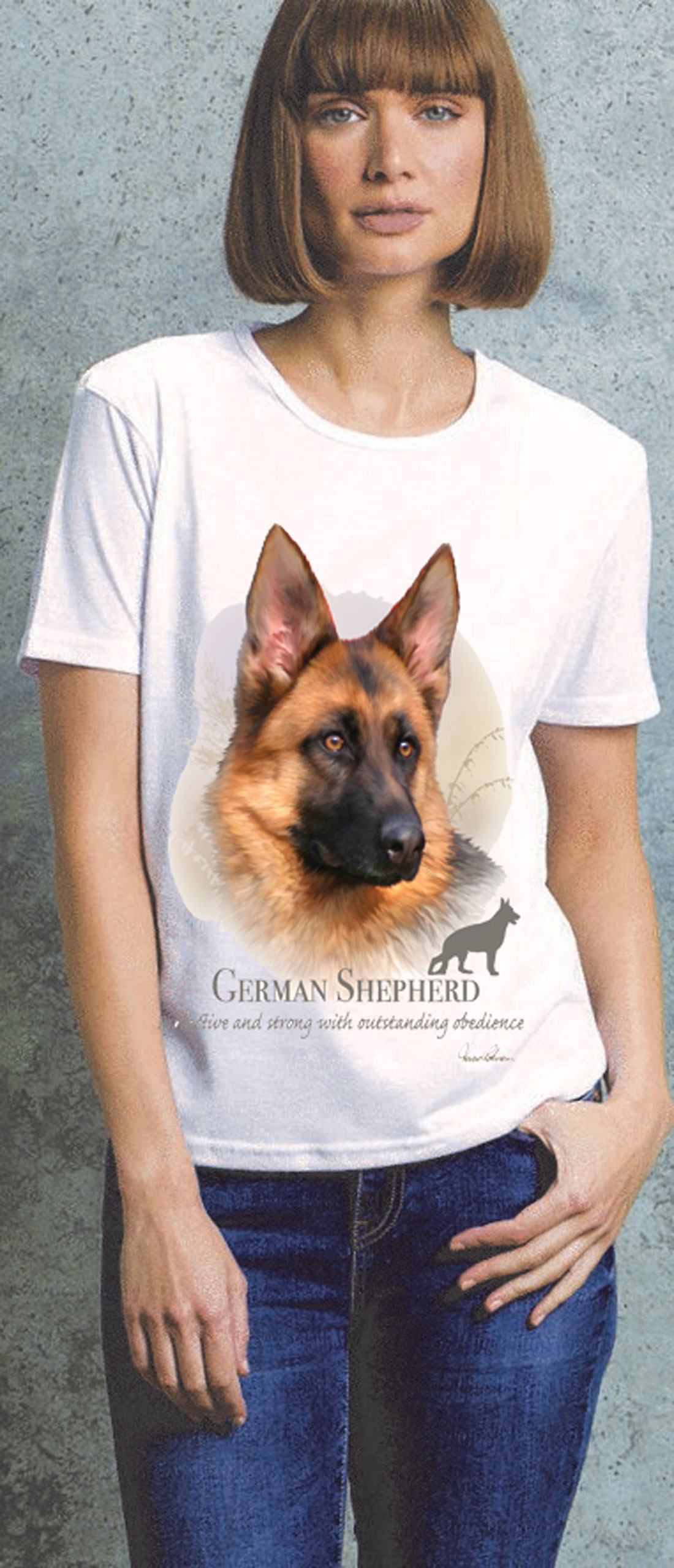 German Shepherd Ladies T Shirt