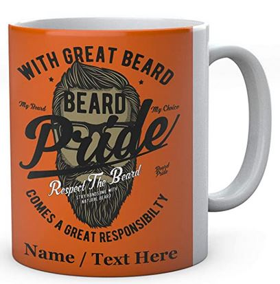 Great Beard Comes A Great Responsibilty -Beard Pride - Personalised Ceramic Mug