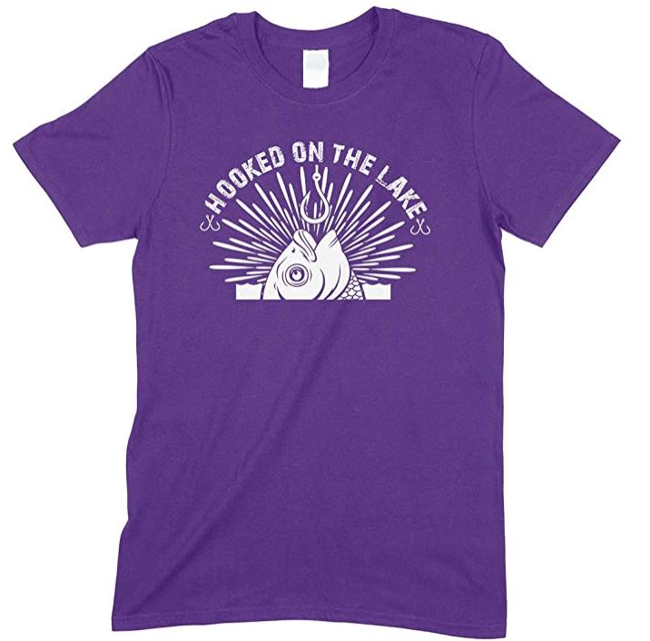 Hooked On The Lakes-Men's Unisex Fishing T Shirt