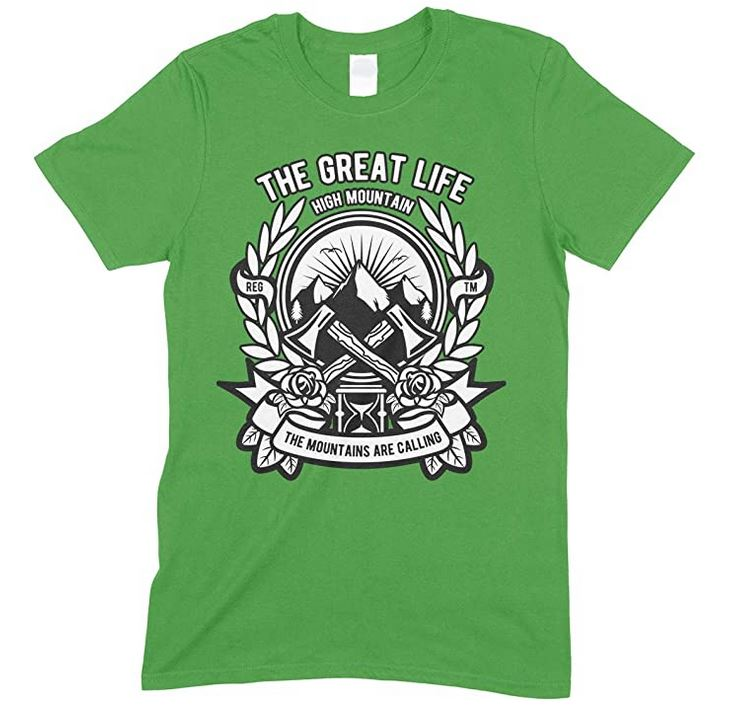 The Great Life High Mountain-The Mountains are Calling Unisex Children's T-Shirt Boy-Girl