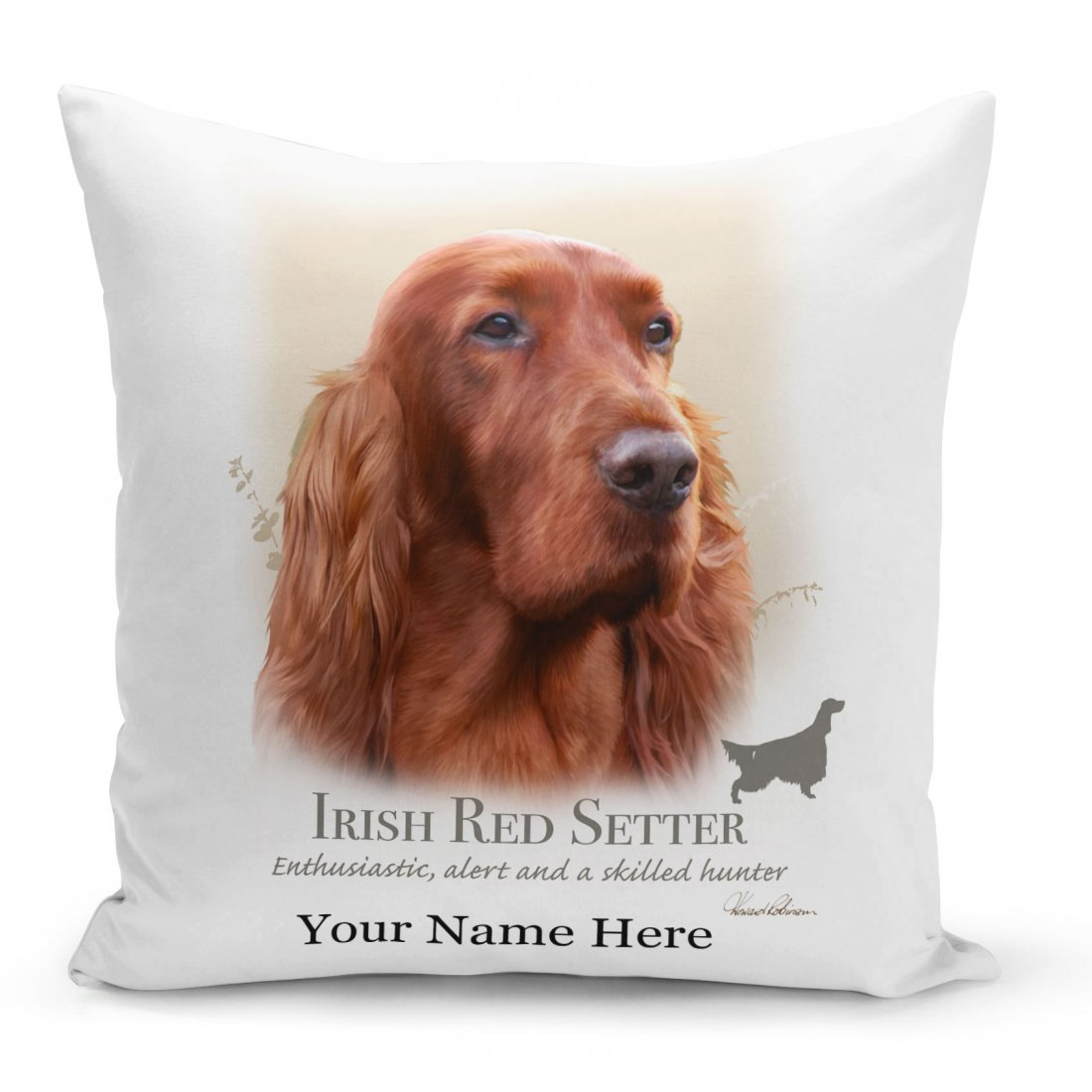 Irish Red Setter Dog Cushion